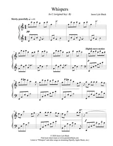 """Whispers"" Sheet Music PDF"