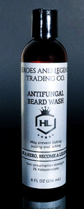 Antifungal Beard Wash with nonprescription strength 1% Ketoconazole
