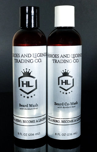 Beard Wash & Co-Wash Bundle, choose your scent