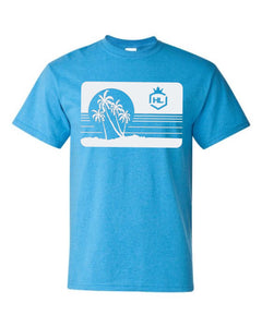 H&L Graphic Tee Beach Summer Tri Blend, Choose Your Color