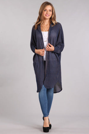 Hooded Long Body Cardigan