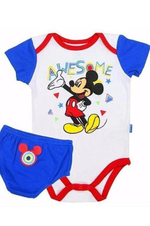 Mickey Mouse Baby Onesie with Diaper Panty