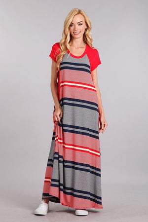 Striped Jersey Maternity Dress