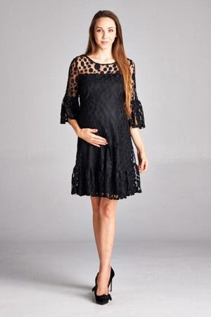 Polka Dot Lace Maternity Dress