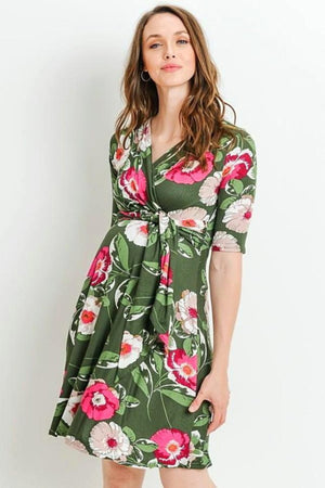 Olive Maternity & Nursing Dress