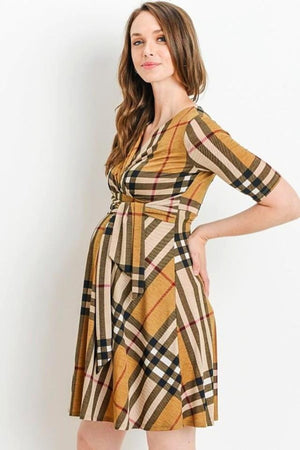 Taupe Maternity & Nursing dress