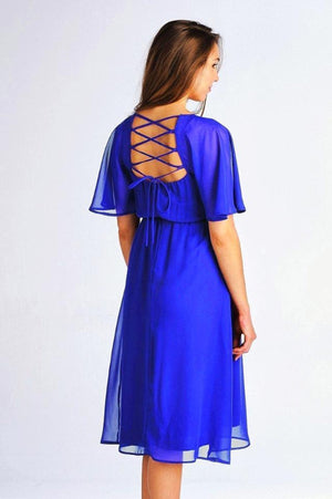 Chiffon Strap Back Maternity Dress