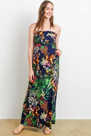 Maxi Tube Dress With Pocket
