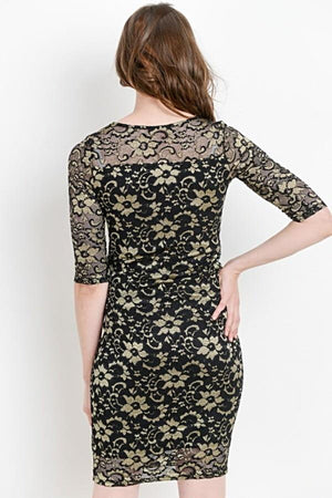 Lace Bodycon Maternity Dress