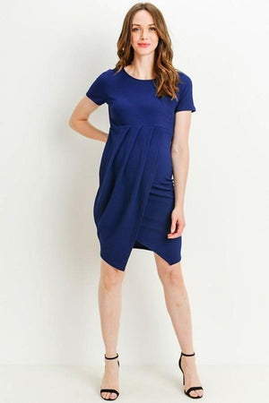 Blue Maternity Casual Dress