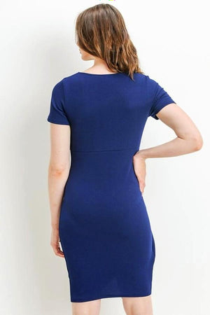Blue Layered Maternity Dress