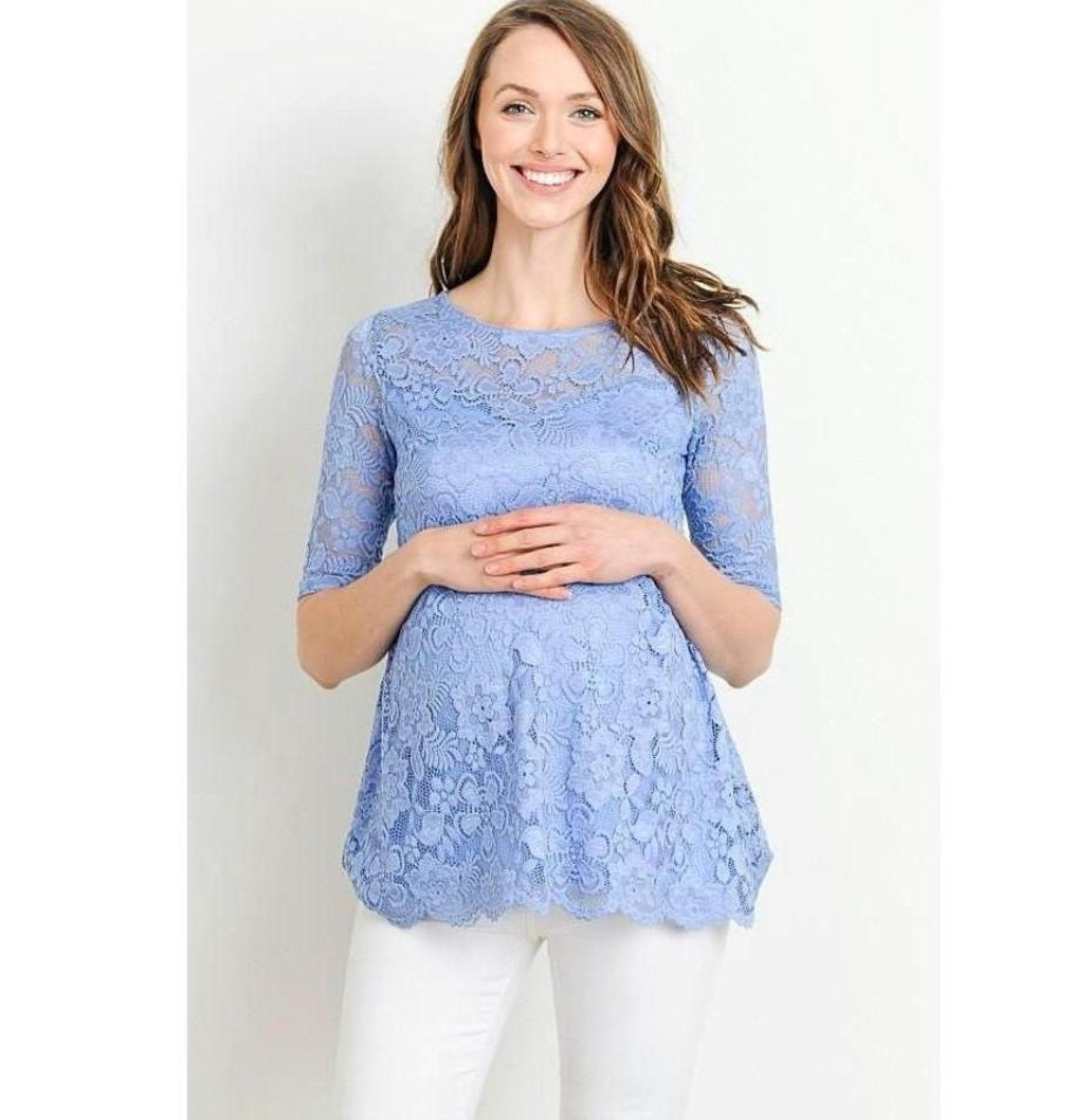 76fa89845a8b7 Lace Maternity Top - ON SALE - Maternity N Beyond