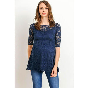 Lace Maternity Top - MaternityNBeyond