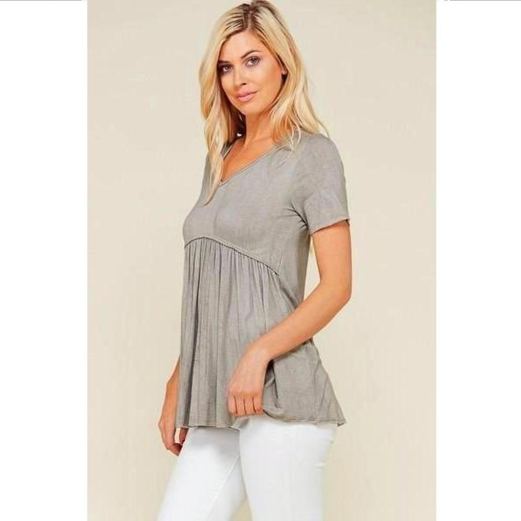 96ec979e630 Grey Short Sleeve Maternity Top - Maternity N Beyond