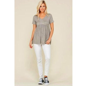 Short Sleeve Maternity Top - MaternityNBeyond