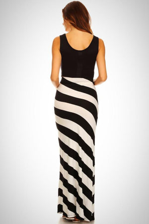 Striped Tank Maxi Maternity Dress