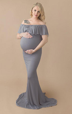 Off Shoulder Maternity Gown