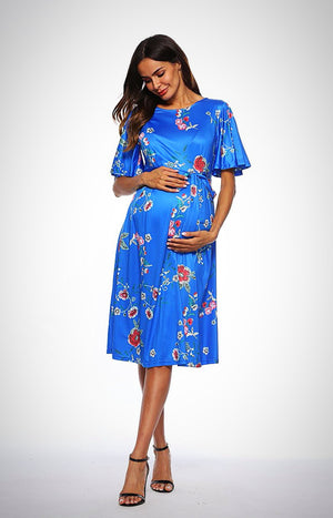 Printed Floral Maternity Dress
