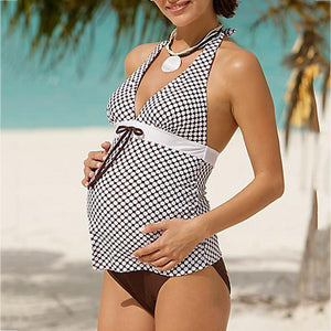 Striped Printed Two Pieces Regular & Plus Sized Maternity Bikini