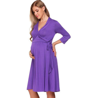 Maternity & Nursing 3/4 Sleeve Night Robe