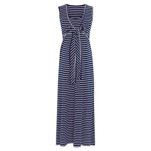 Striped Maternity and Nursing Dress