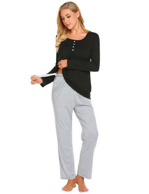 Maternity Nursing Soft Pajama Set