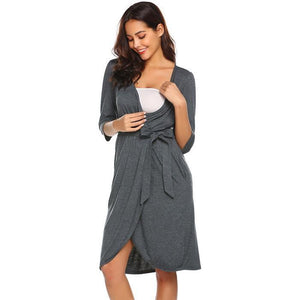 Maternity Nursing Nightdress & Bathrobe
