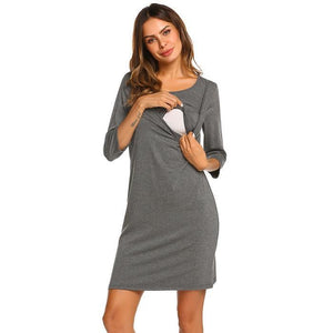 Maternity Nursing O-Neck Nightwear