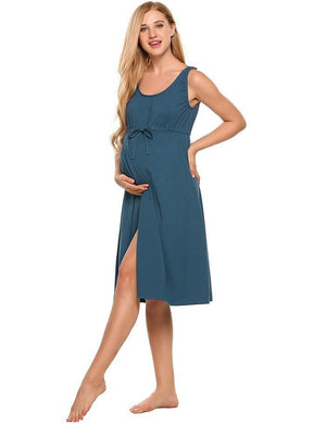 Maternity Nursing Dress with Belt