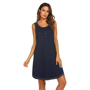 Sleeveless Maternity Nursing Sleepwear