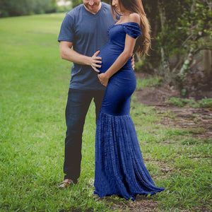 Off Shoulder Baby Shower & Photoshoot Dress
