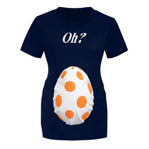 Maternity Easter Egg Print T-Shirt
