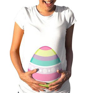 Summer Short Sleeve Maternity Easter Tee