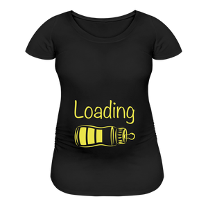 Baby Loading Maternity Tshirt - black