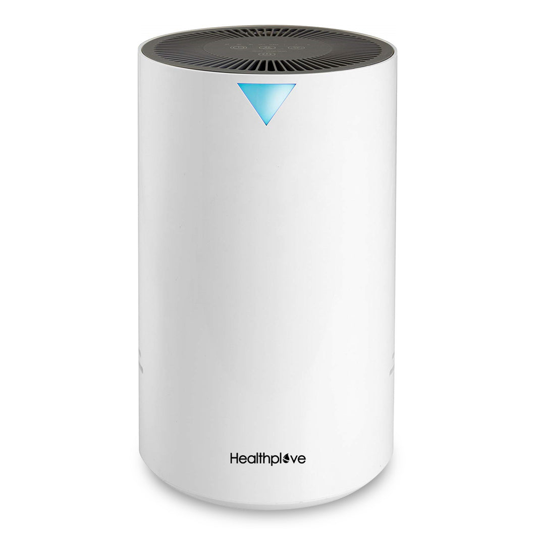 Healthplove Air Purifier True HEPA Filter, Activated Carbon Filter, UV-C Sanitizer, Air Cleaner Allergies Pets, Odor Remover, Eliminates Dust, Pollen, Pet Dander, Smoke, Mold Spores