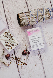 Soy wax melt -  Spiritual and Space cleansing and protection - Essential bath time
