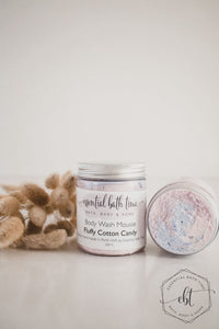 Fluffy Cotton Candy Body Wash MousseEssential bath time