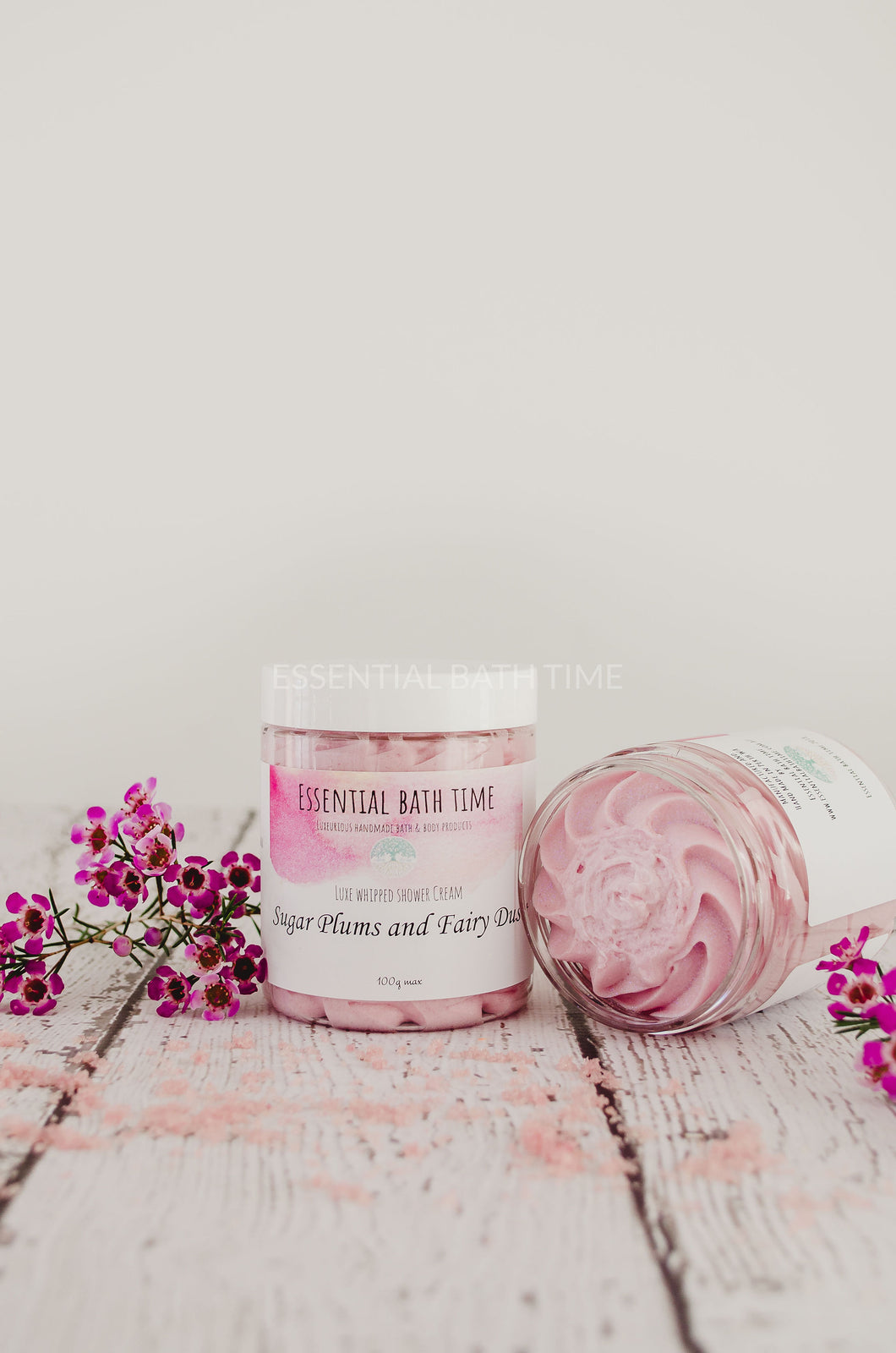 Sugar plums and Fairy Dust Bath and shower whipped Soap Cream.whipped soapEssential bath time