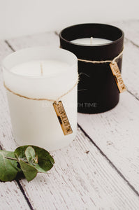 Cambridge rustic soy candle Tropical Lime and Coconut Punch - Essential bath time