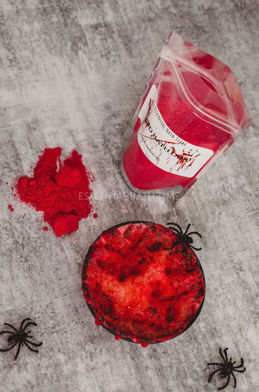 Blood Bath dust Special FXHalloween bath bombEssential bath time