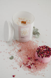 Venus Crystal Candle or Gift SetSoy Wax CandleEssential bath time