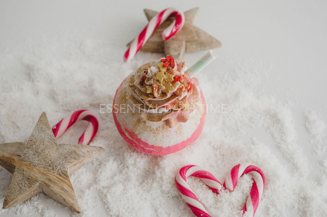 Candy Cane Fizz soda bubble bar and bath bomb - Essential bath time