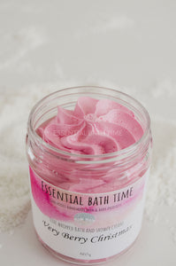 Very Berry Christmas whipped soap - Essential bath time