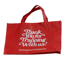 Load image into Gallery viewer, Thank Your For Trapping With Us - Red Tote Bag