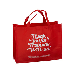Thank Your For Trapping With Us - Red Tote Bag