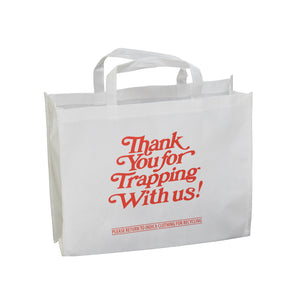 Thank You For Trapping With Us - White Tote Bag