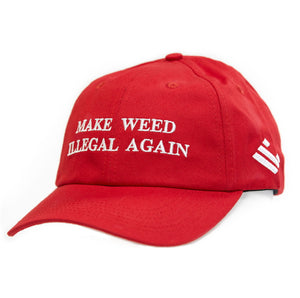 Make Weed Illegal Again MAGA Dad Cap