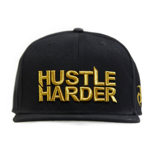 Hustle Harder Cap Gold