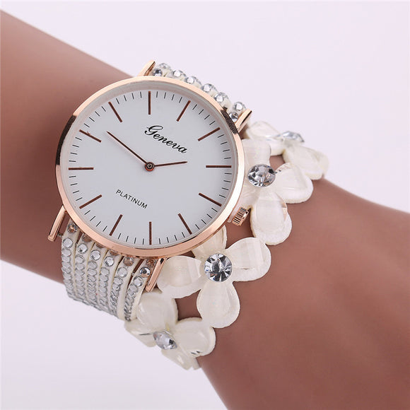 Leisure fashion, watches of casual, elegant and glass women