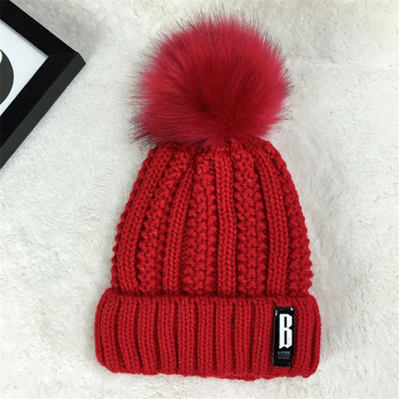 Women hat the hundreds Brand New High-Quality  winter mink The Ball ski rabbit  hat pom poms